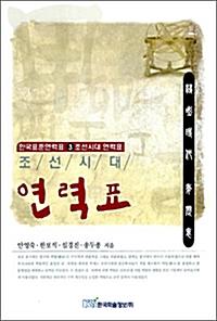 조선시대 연력표
